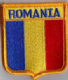 Romania Embroidered Flag Patch, style 06.